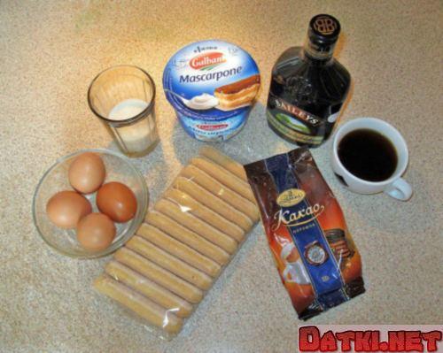 Ингредиенты для тирамису