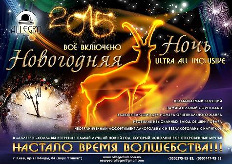 Новый год 2015 в концерт-холле Allegro
