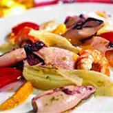 Салат из кальмаров с фенхелем