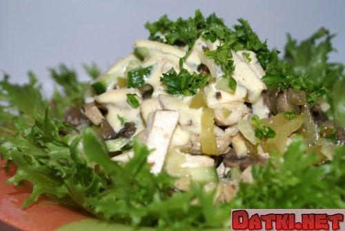 Салат из сельдерея с телятиной