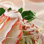 Салат крабовый с семечками