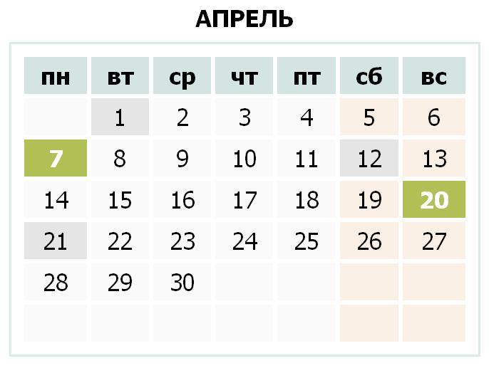Календарь праздников Украины на апрель 2014