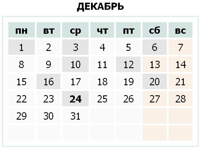 Календарь праздников Украины на декабрь 2014