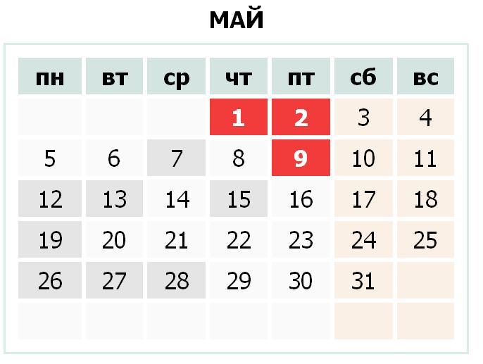 Календарь праздников Украины на май 2014