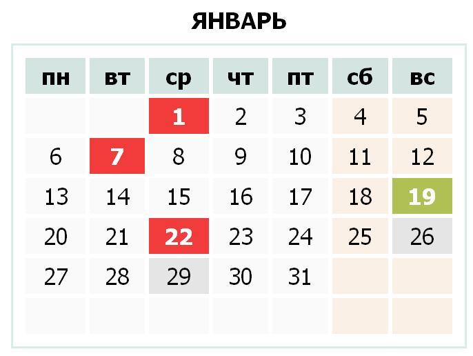 Календарь праздников Украины на январь 2014