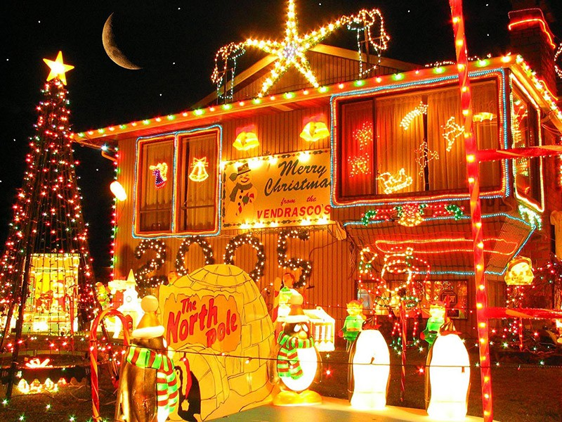 Рождество в Дании, украшения улиц