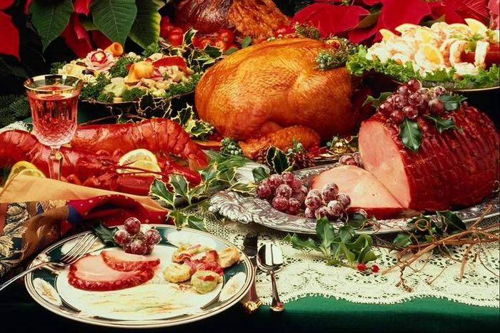 Рождественский стол в Англии и Америке