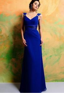 Брюнетка в синем платье, фото