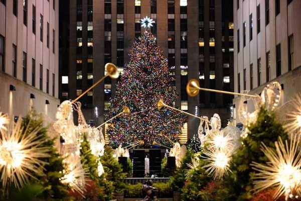 Елка на Рождество в Америке