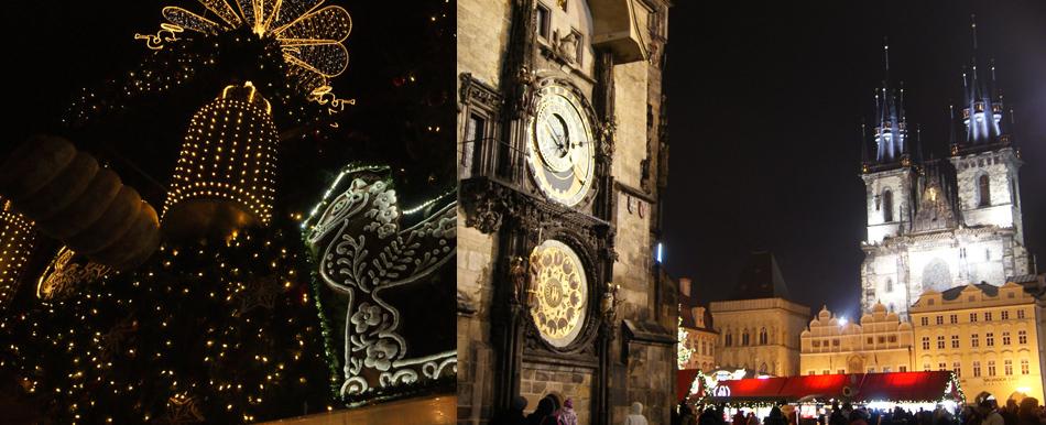 Улицы Праги (Чехия) на Рождество