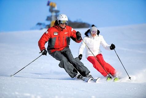 Отметить День Святого Валентина на лыжах