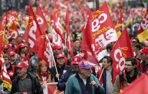 1 Мая во Франции: демонстрация профсоюзов