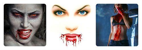 Кровь из рта на Хэллоуин
