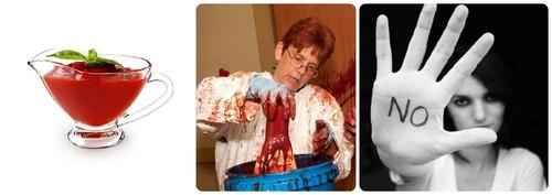 Кровь на Хэллоуин из кетчупа