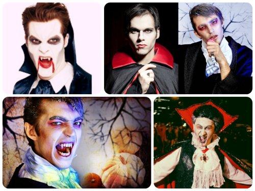 Образ вампира на Хэллоуин