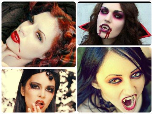 Образ вампирши на Хэллоуин