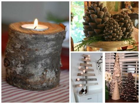 Деревянные новогодние украшения в дом (квартиру)
