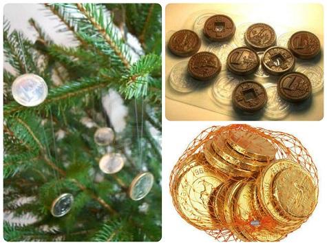 Как красиво нарядить елку - деньгами