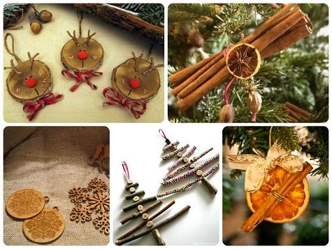 Натуральные украшения для елки