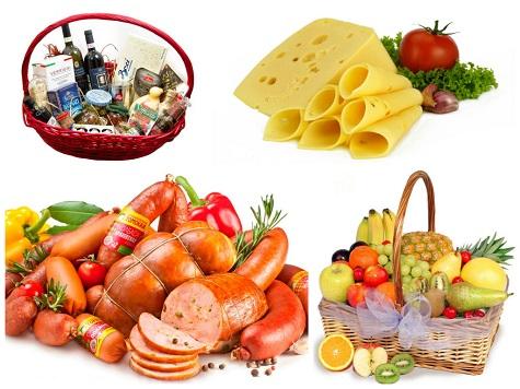 Подарок свекру и свекрови на Новый Год - продукты