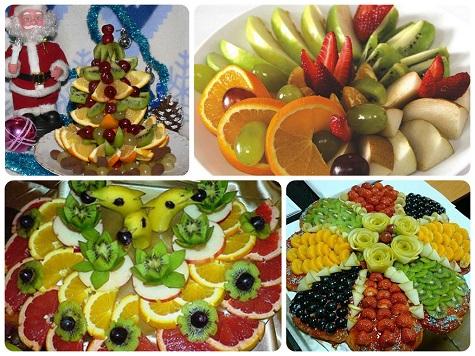 Раскладываем фрукты на Новый год