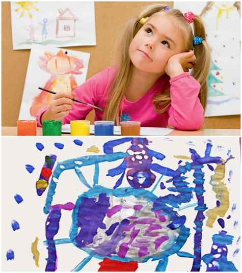 Ребенок нарисовал подарок