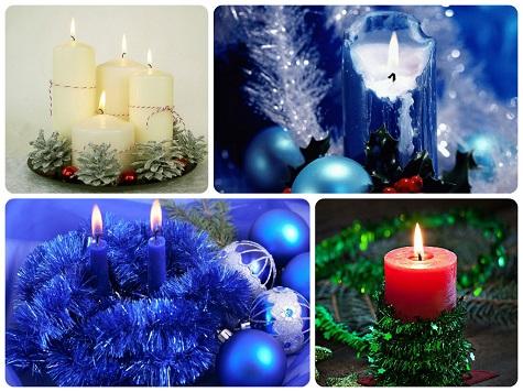 Украсим новогодний стол свечами