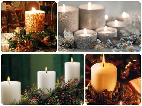 Украшаем квартиру (дом) новогодними свечками