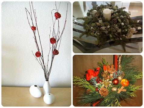 Украшаем стол на Новый год с помощью икебаны