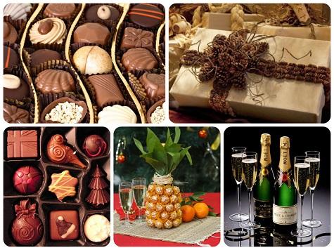 Что подарить девушке на Новый год - сладости