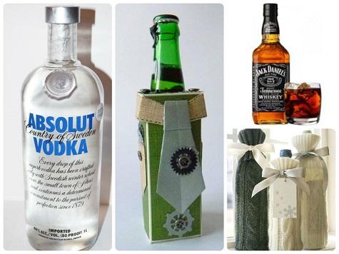 Что подарить коллеге мужчине на Новый год - бутылочку
