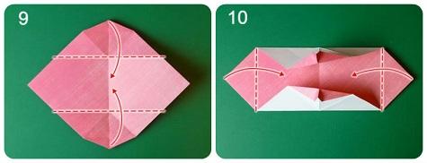 Валентинка-оригами практически готова