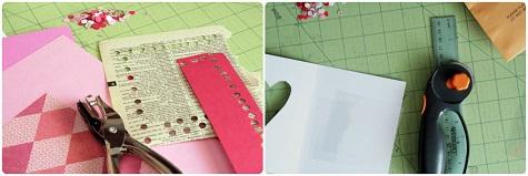 Готовим конфетти для открытки