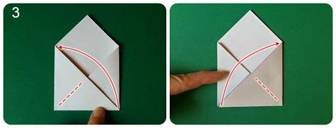 Делаем валентинку в виде оригами