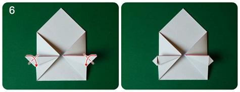 Делаем валентинку оригами - практически половина