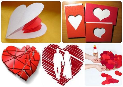 -сделать-валентинку-своими-руками Поделка — валентинка своими руками из бумаги, ткани: шаблоны, выкроки. Как сделать красивую валентинку своими руками маме, парню, в школу?