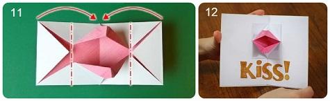 Наша валентинка-оригами из бумаги готова