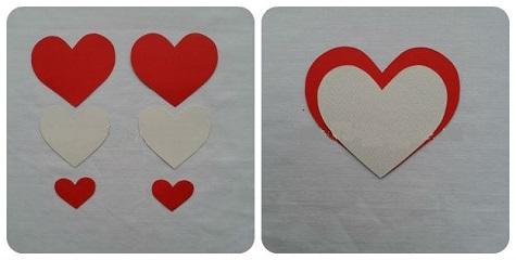 Открытка ко Дню Святого Валентина из бумаги и текстиля