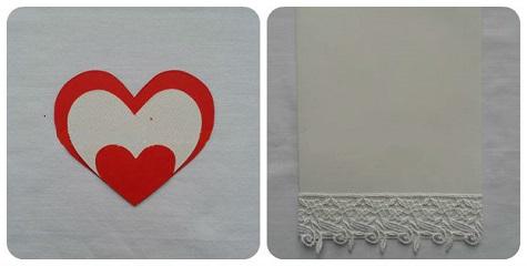 Открытка на День Святого Валентина (красные и белые сердца)