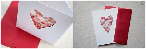 Открытка с конфетти на 14 февраля своими руками