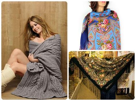 Пледы и платки в подарок любимой