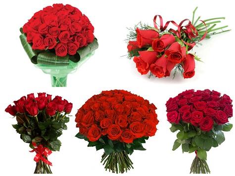 Подарите жене букет из красных роз на 14 февраля