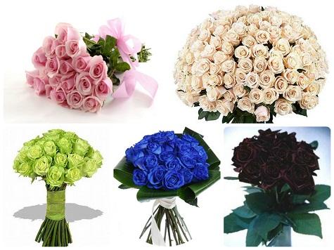 Подарите букет из роз необчных цветов