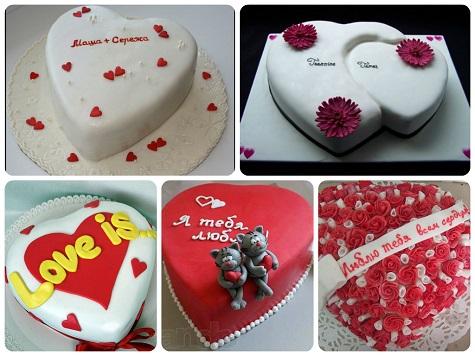 Подарки девуше на 14 февраля - торты под заказ