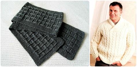 Подарки любимому мужу на 14 февраля - шарф и свитер