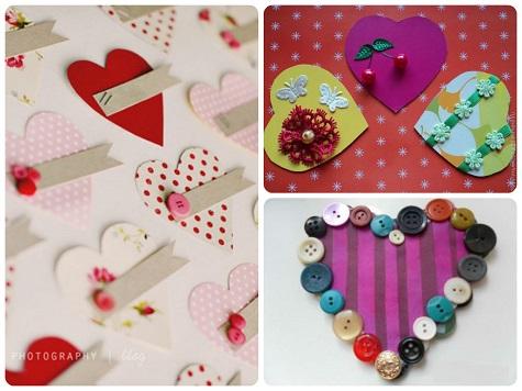 Простая валентинка из бумаги и подручных средств