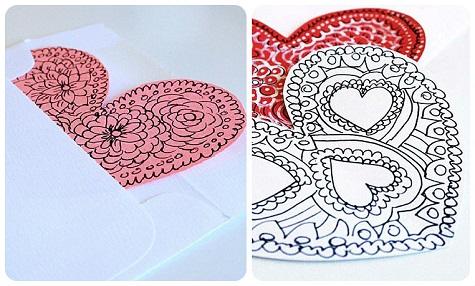 Простые валентинки с рисунками