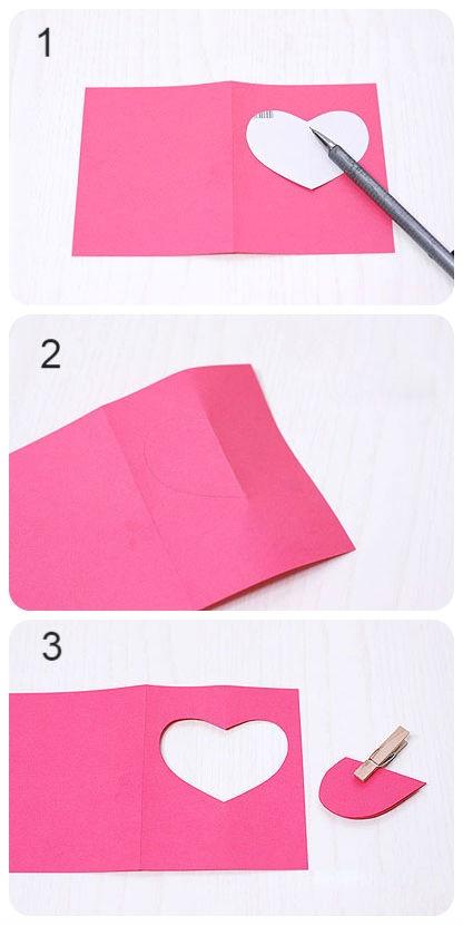 Сердечко для валентинки из бумаги