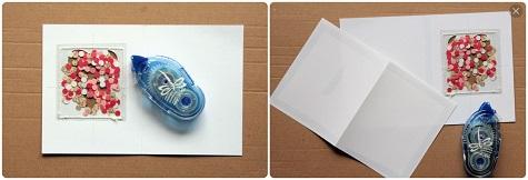 Скроем мешочек с конфетти слоем бумаги