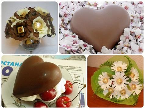 Что подарить девушке на 14 февраля - не забываем про сладости